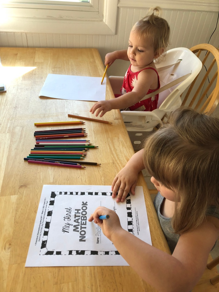 Homeschooling a Preschooler Week One