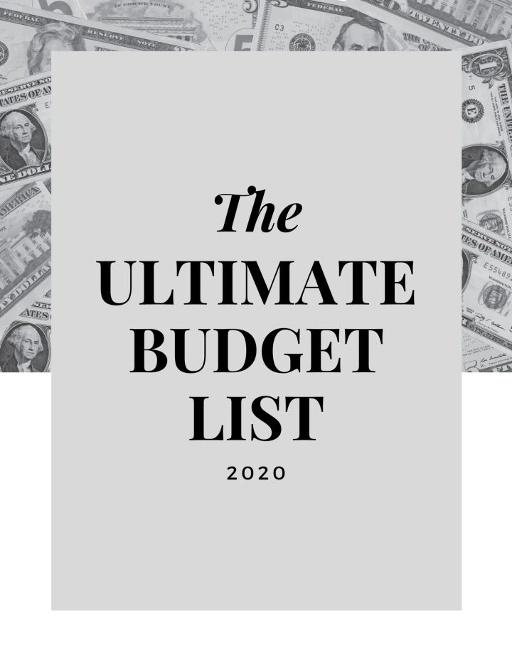 The Ultimate Budget List